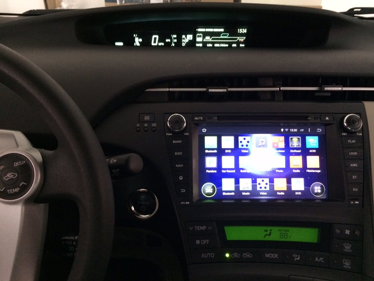 11 Toyota Prius Two with Android 4 4 4 Kit Kat Head unit