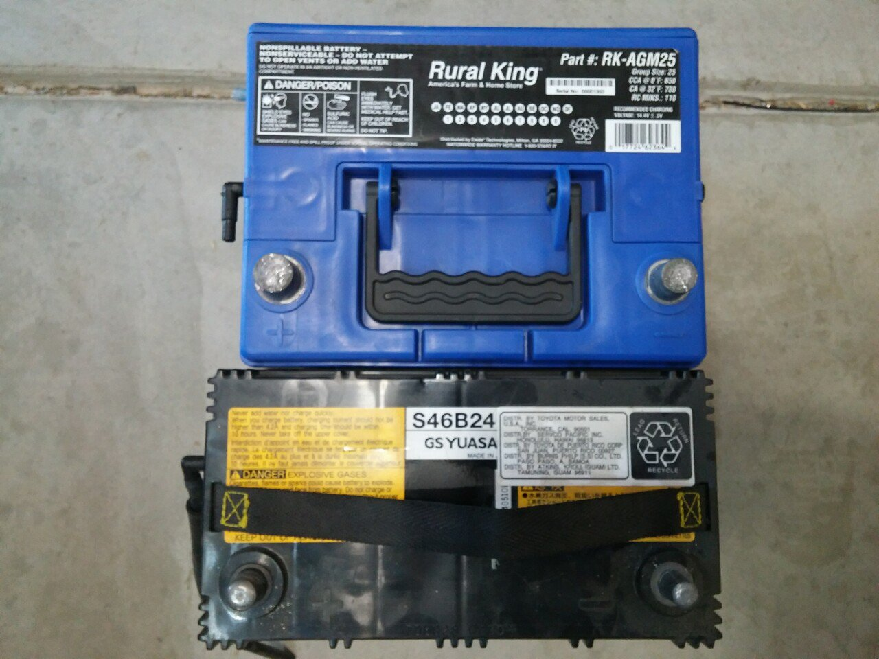 Replace Oem 12v Battery With Group 25 Agm Priuschat 2008 Prius Wiring Diagram Positive Terminal I Bought 90982 05054 It Is The Closest Match To Original In Sae Size And Latest Revision