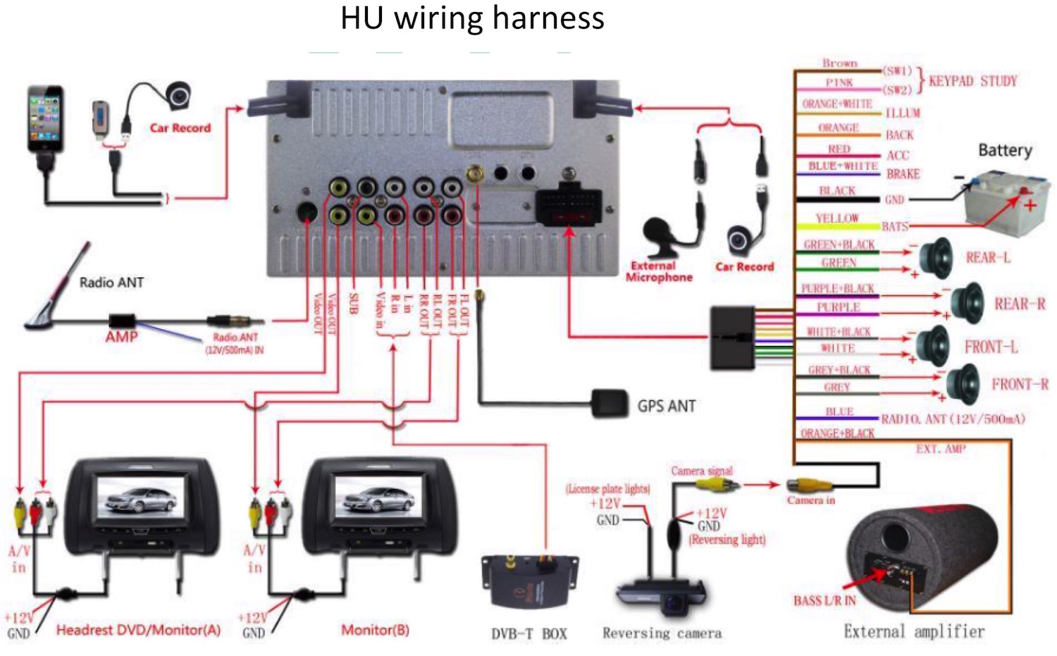 steering wheel control with android hu   without metra 7 pin trailer connector wiring 7 pin rv trailer connector wiring diagram