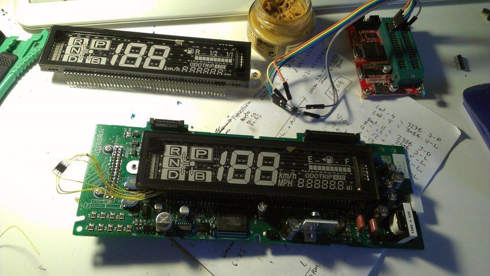 Combination meter, speedometer, cluster  EEPROM memory