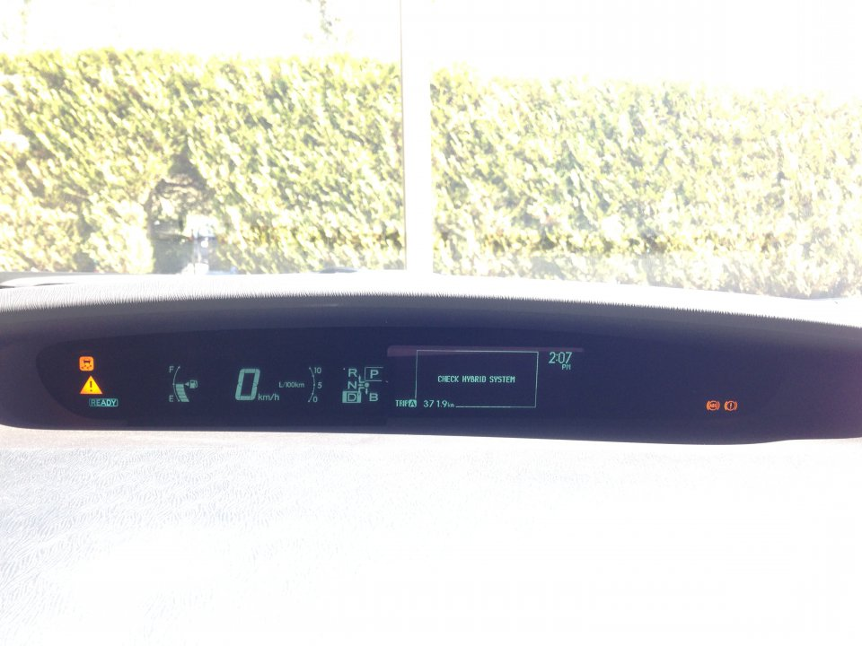 Help With A 2011 Prius Three Check Hybrid System Quot Light