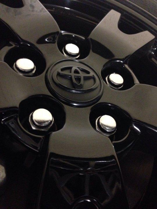 Painting Lug Nuts >> Black Lug Nuts for 2015 Prius TWO | PriusChat