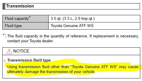 transmission fluid question | PriusChat