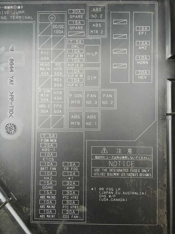 2007 Prius Fuse Diagram - Wiring Diagrams Log on
