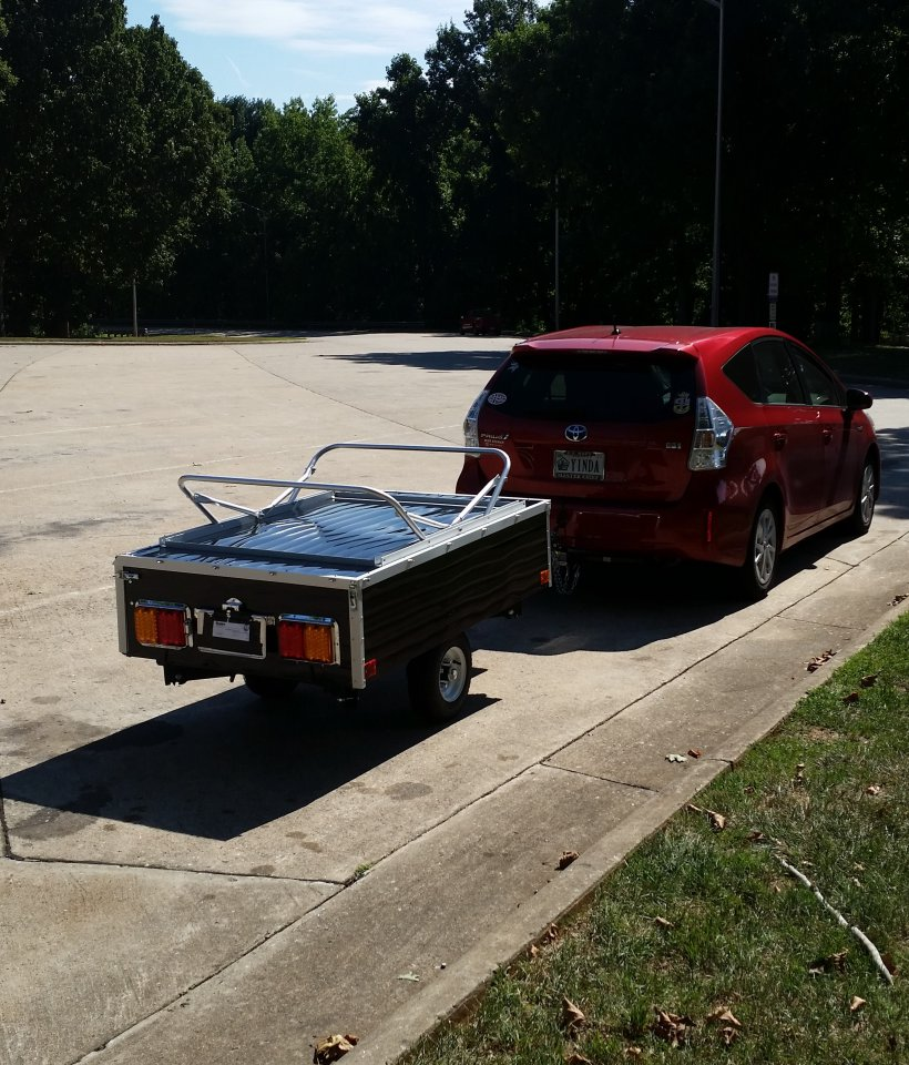 Has anyone towed a lightweight pop-up camper with their Prius V