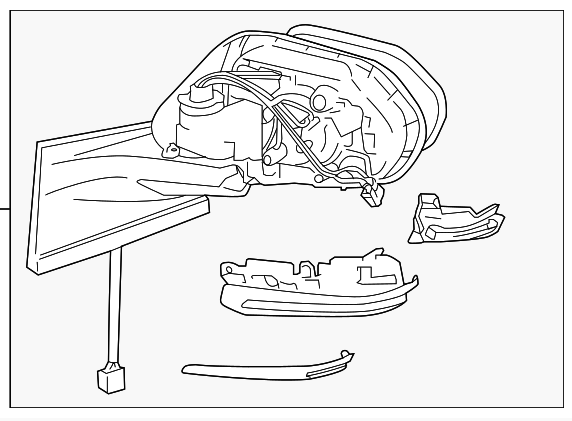 toyota prius parts illustration