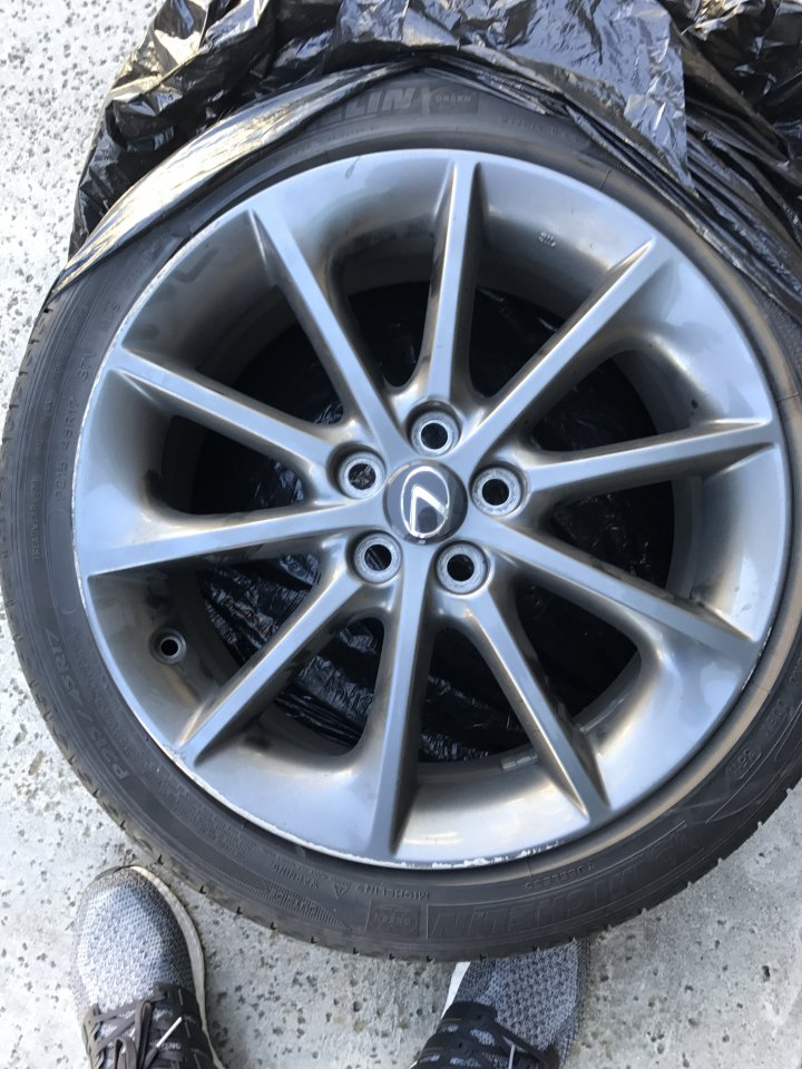 ... 200h F Sport Rims For Sale. They Do Come With Tires, But Theyu0027re Pretty  Low On Tread. They Do Have Some Curb Rash. $300obo Local Pick Up In So Cal  Only.