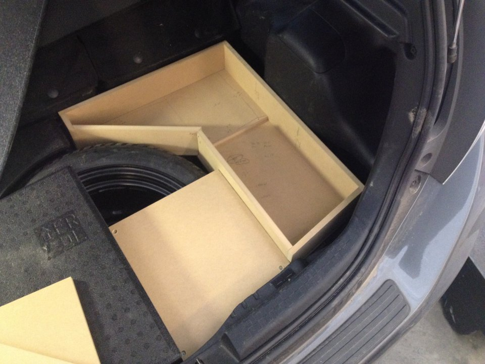 My stealth Subwoofer install   PriusChat
