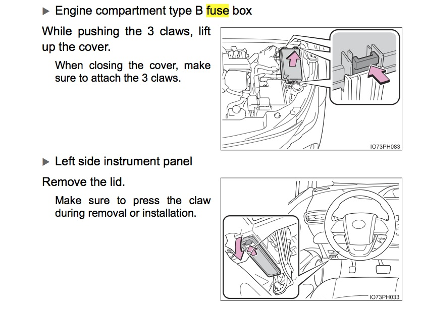 inside fuse panel location | priuschat  priuschat