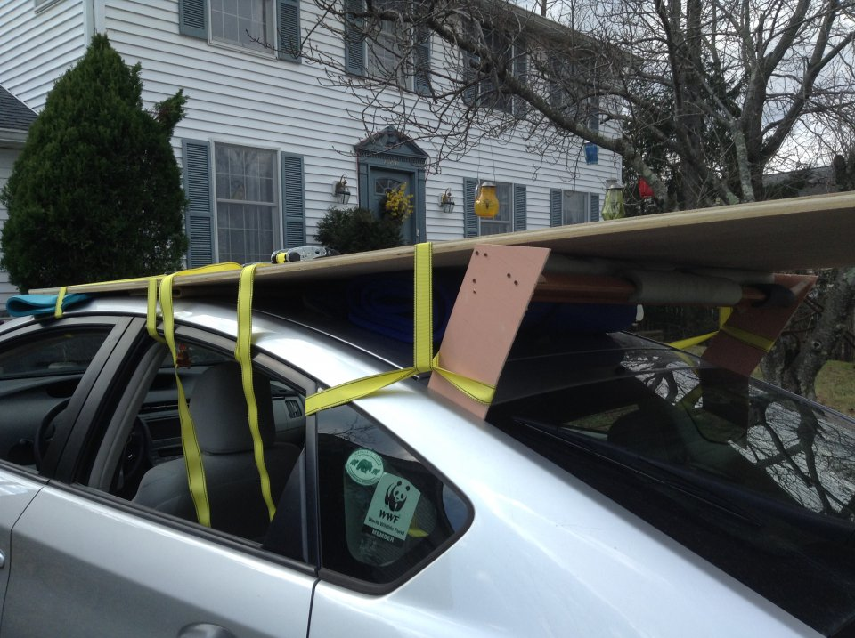 Next Time I Would Choose To Shift The Plywood Sheet About 6 Inches Forward  So That It Would About Even With The Top Of The Front Window And Hang A  Little ...