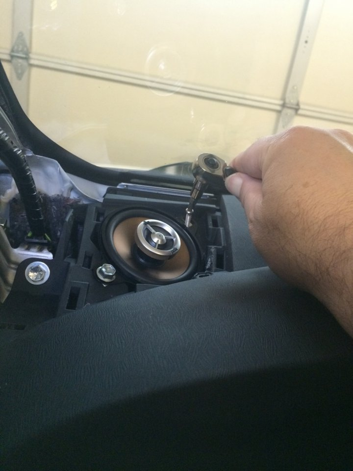 They need very little clearance and I think you should just cut off the dash \ squawkers\  (leave them in the dash with no sound going to them) and put your ... & Help please! Does anyone make a bracket for the dashboard to install ...