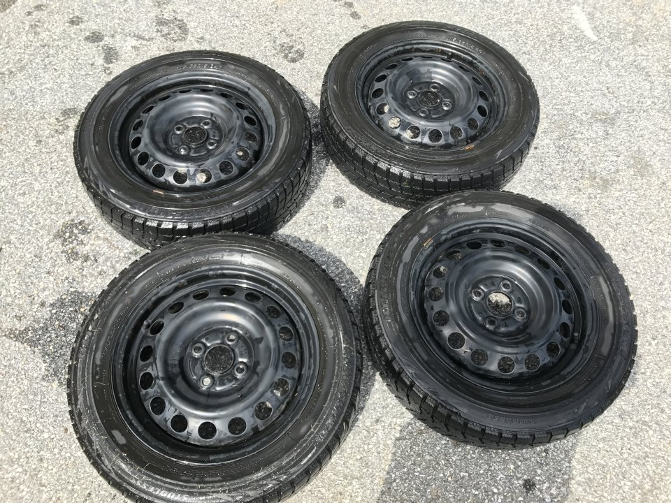 Steel Wheels For Sale >> For Sale Prius C Steel Wheels With Blizzak Ws70 10 20 Remaining