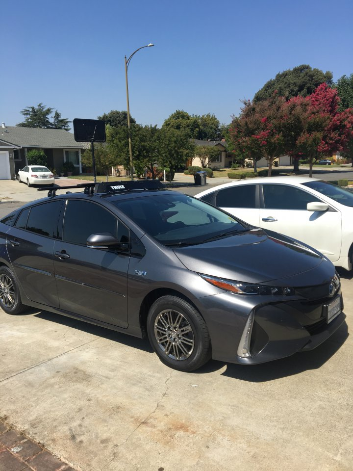 Thule Motion Xt >> Prius Prime with Thule roof rack and Thule Motion XT Cargo ...