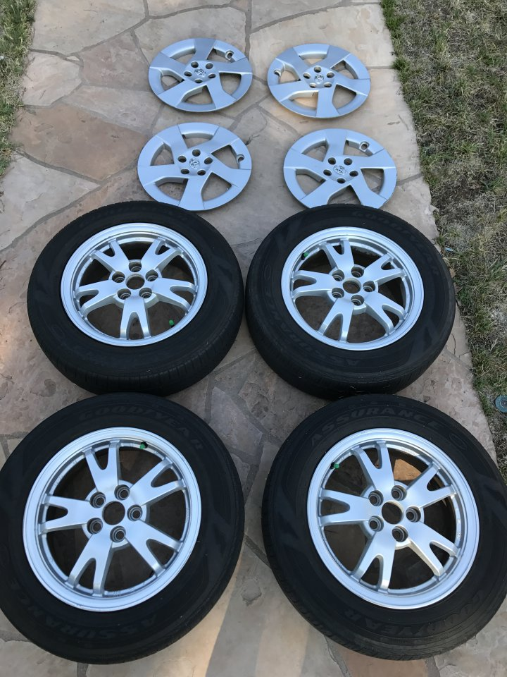 prius toyota wheel wheels tires covers oem goodyear assurance priuschat attached file