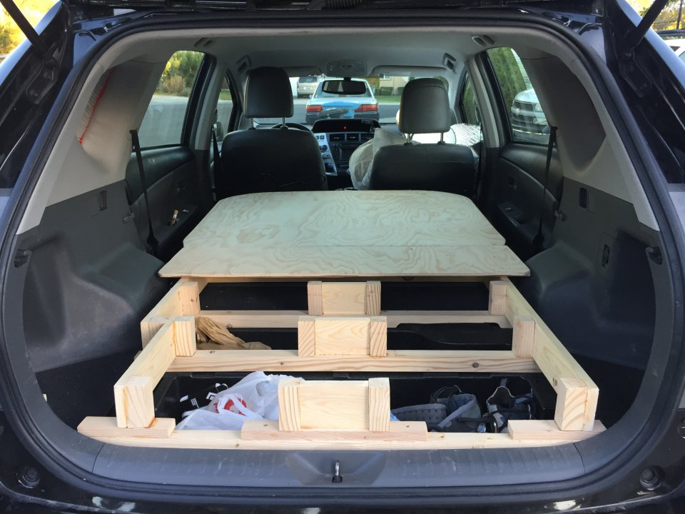 New Platform Bed In My Prius V Wagon Ready For Some