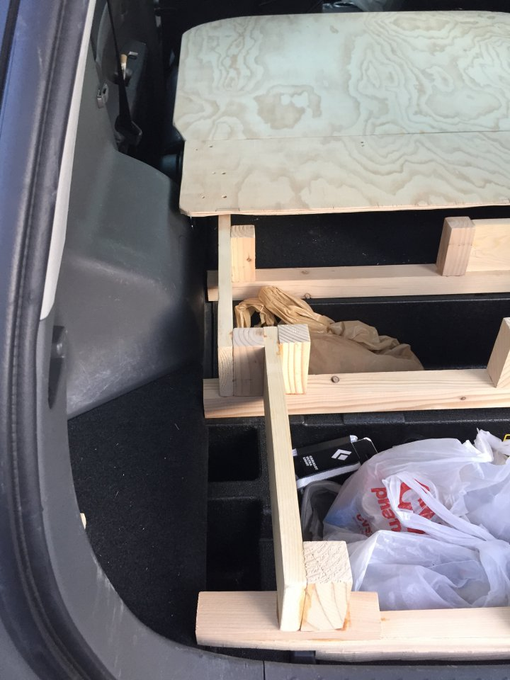 Used Prius V >> New platform bed in my prius v wagon- ready for some