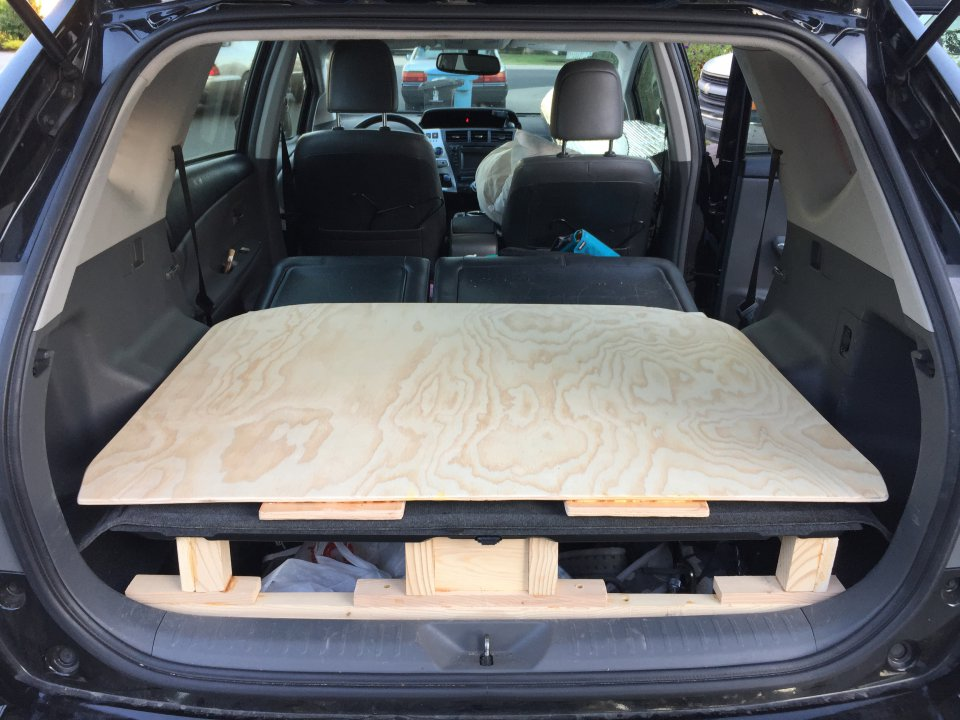 New Platform Bed In My Prius V Wagon Ready For Some Camping Priuschat