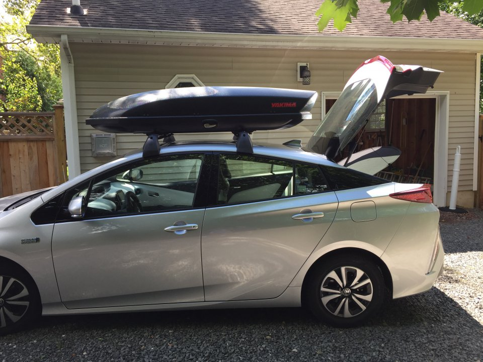 Prius Roof Rack >> Prius Prime Roof Rack Cargo Box Combo That Works Priuschat