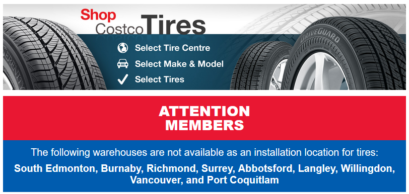 Something Up With Costco Tire Centres In Lower Mainland Bc Canada