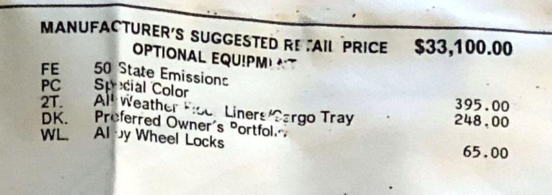 2018-01-26 - Prius Prime window sticker - optional equipment.jpg