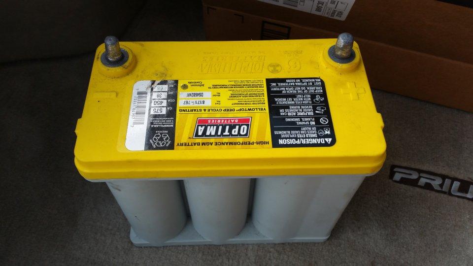 Sold Optima Yellow Top Prius Battery 8171 767 Ds46b24r Dallas Mckinney Plano Allen