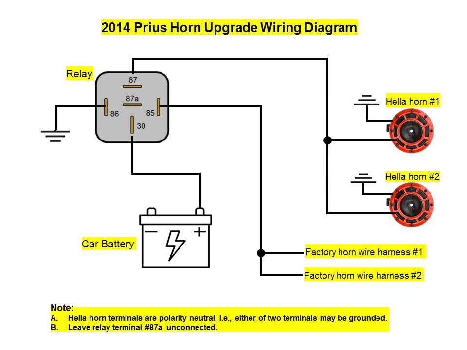 Prius horn upgrade wiring diagram | PriusChatPriusChat