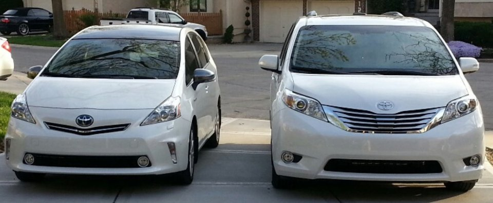 2012 Prius v and 2014 Sienna.jpg